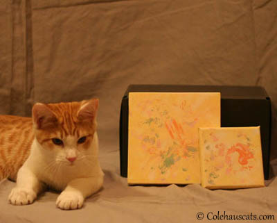 Quint and his paintings. 2012