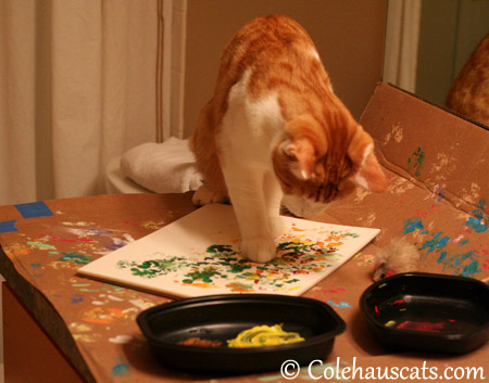 Quint Painting Autumn - 2013 © Colehaus Cats