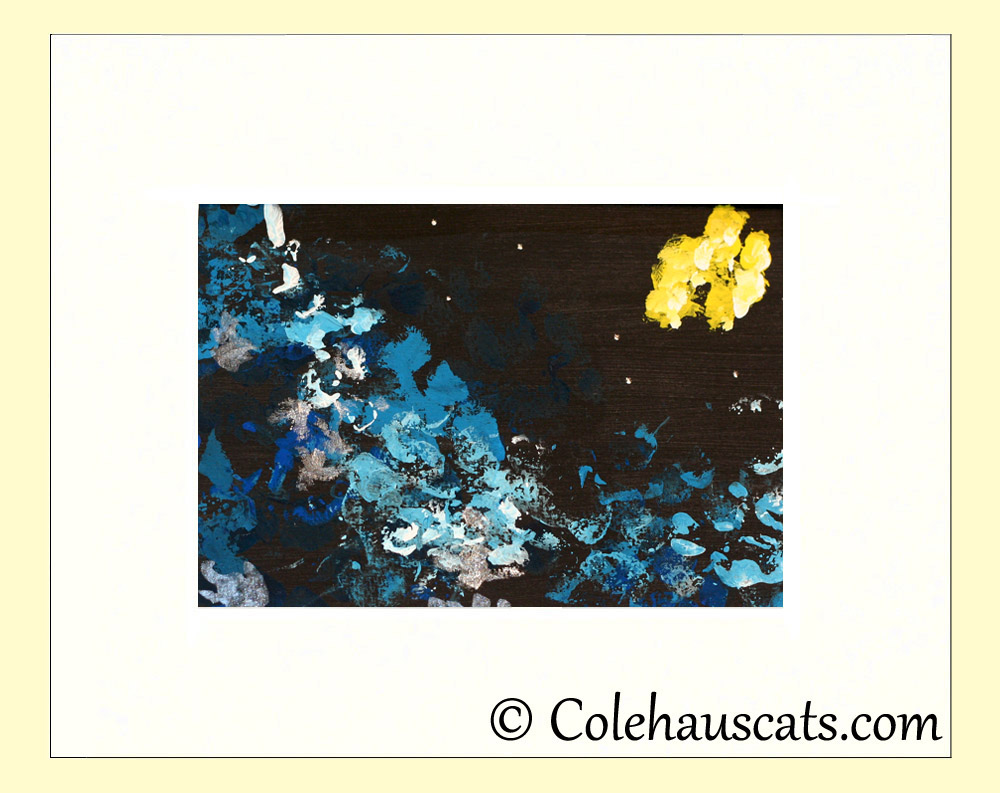 A finished 8x10 dark Starry Night by Quint Cole - 2013 © Colehaus Cats