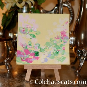 Quint's early Spring Blossoms 2014 on canvas - 2014 © Colehaus Cats