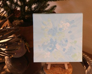Quint's Winter Frost on 6x6 inch canvas - 2014 © Colehaus Cats