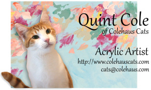 Quint's new 2015 postcard - 2014 © Colehaus Cats