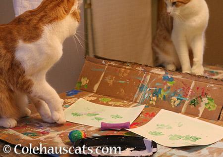 Quint painting - 2015 © Colehauscats.com