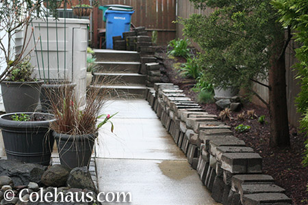 Blocks and sloping side yard - 2015 © Colehaus.com