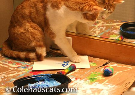 Quint paints summer - 2015 © Colehauscats.com