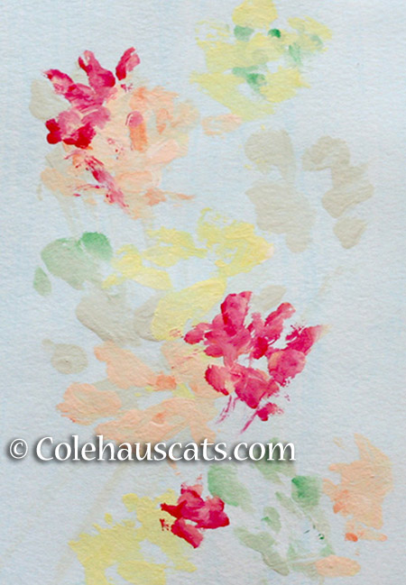 "Quint's painting ""Softly Fall 2015"" - 2015 © Colehauscats.com"