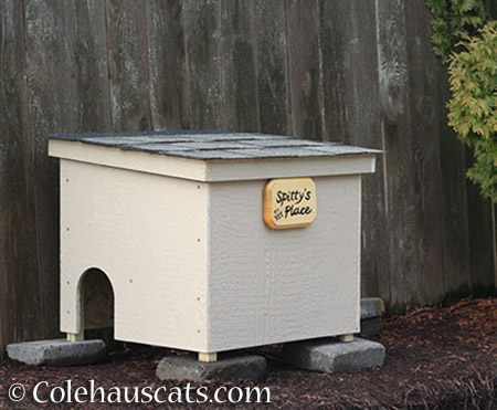 Spitty's Place feral shelter - 2015-2016 © Colehauscats.com