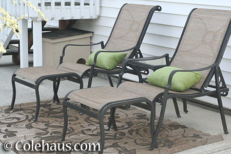 Patio furniture - 2016 © Colehaus.com and Colehauscats.com