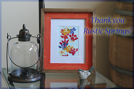 Thank you, Rustic Springs frames! - 2016 © Colehauscats.com