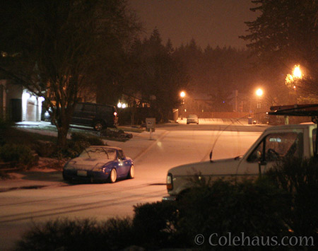 Our dusting of snow - © Colehaus.com